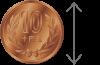10円玉サイズ(およそ2.5cm)